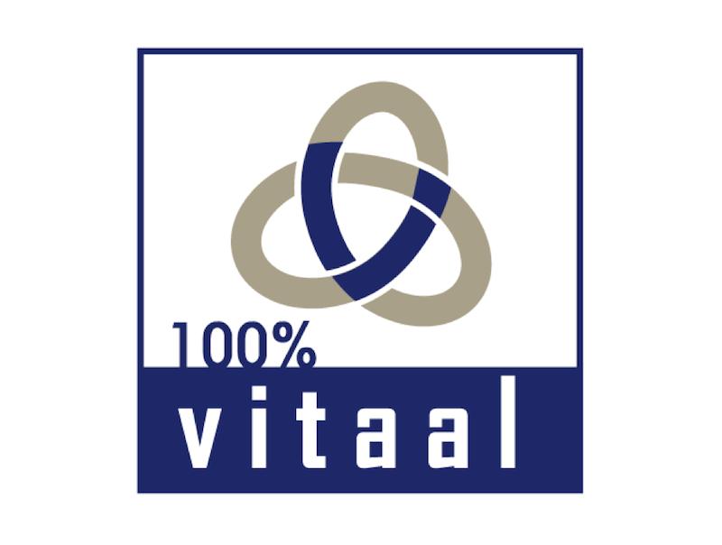 100% Vitaal FB logo donker