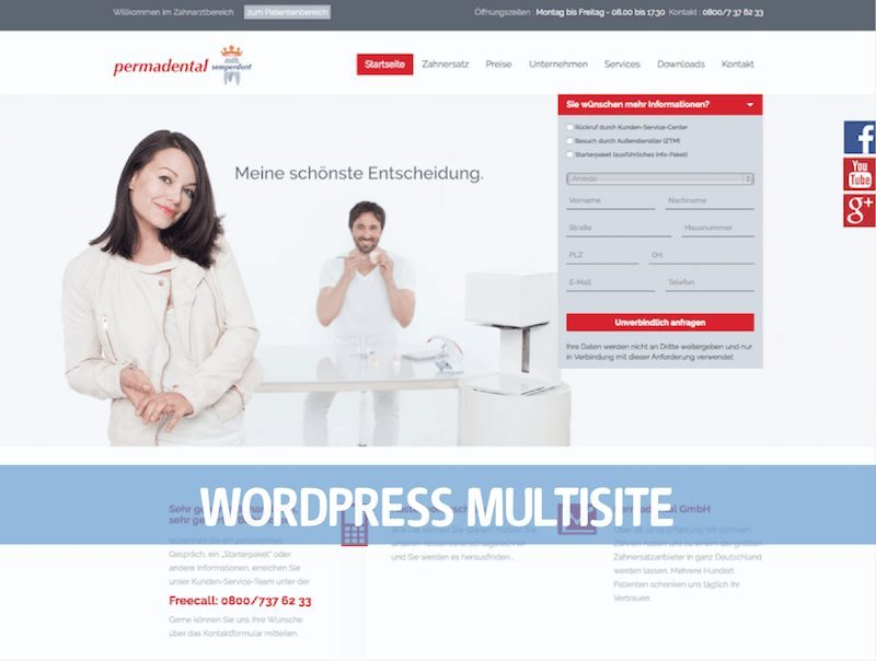 WordPress Multisite PermadentalWordPress Multisite Permadental
