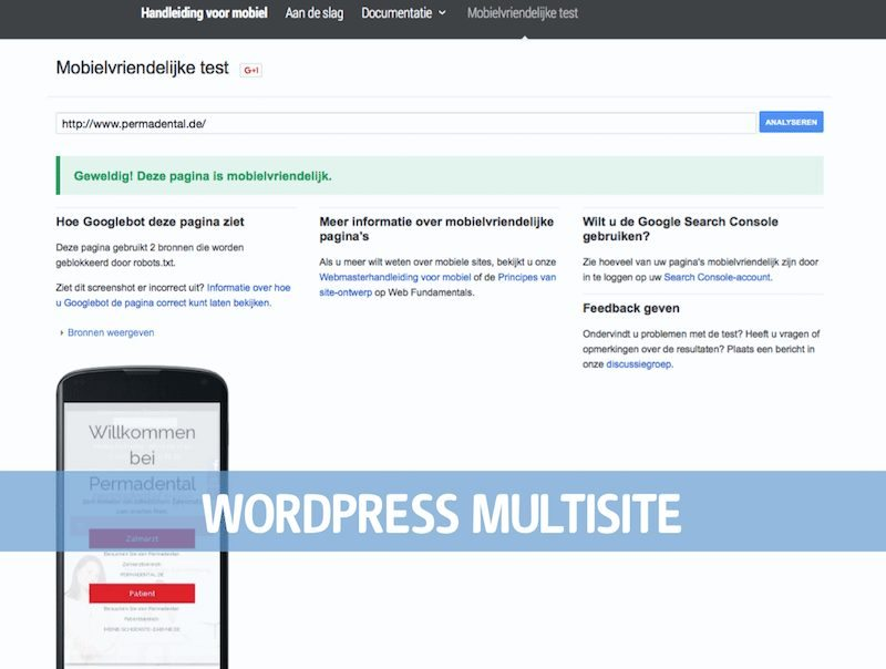 WordPress Multisite Permadental