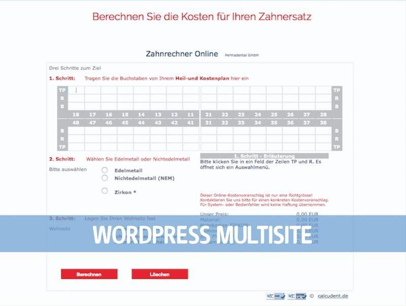 WordPress Multisite Permadental