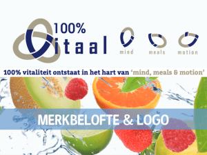 Merkbelofte en logo 100% Vitaal