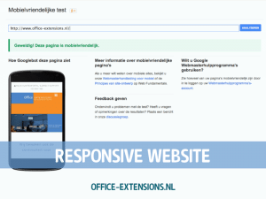 Office Extensions responsive website