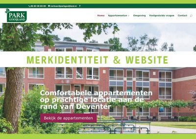 Merkidentiteit en website Park Gooijland