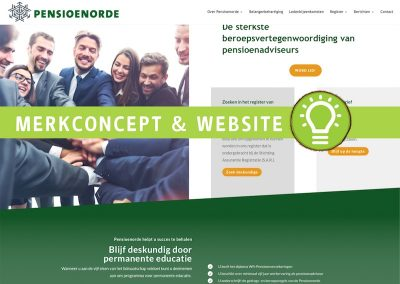 Pensioenorde: merkconcept en website